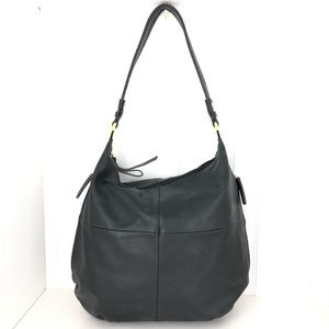 Tignanello Hobo Pebbled Leather Black Bag